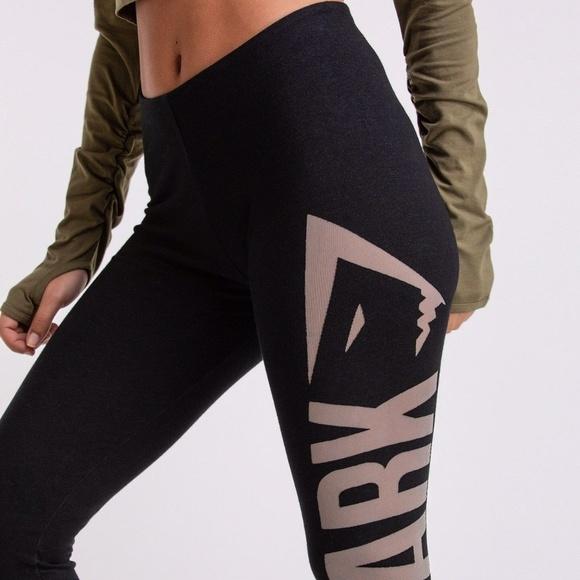 1c447db6fe Gymshark Burnout Black Light Gray Leggings Size XS
